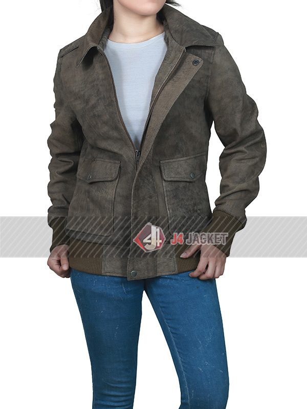 Jessica Barden the End of the Fucking World Leather Jacket-5304