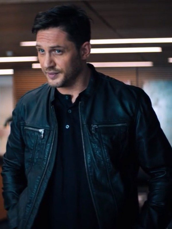 Tom Hardy Venom Black Leather jacket
