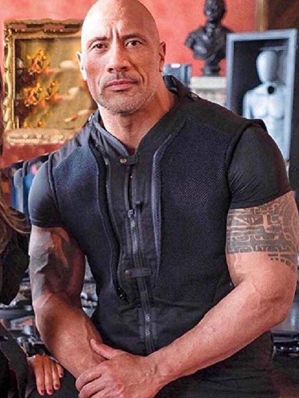 Hobbs and Shaw Dwayne Johnson Black Vest