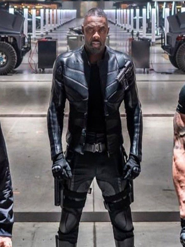 Idris Elba Hobbs and Shaw Black Jacket