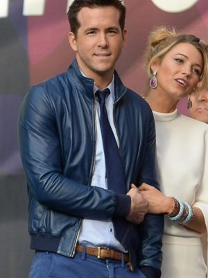 Ryan Reynolds and Blake Lively Leather Jacket