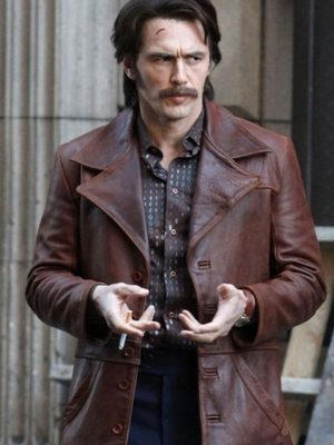 James Franco The Deuce Distressed Leather Jacket