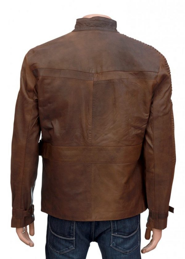 Finn Brown Leather Jacket From Star Wars 1