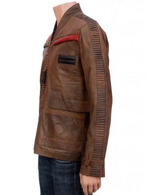 Finn Star Wars Distressed Leather Jacket-0