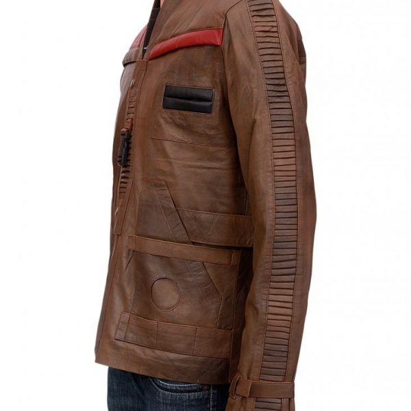 Finn Star Wars Distressed Leather Jacket-0