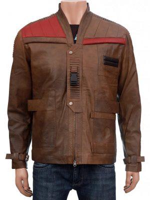 Finn Star Wars Distressed Brown Leather Jacket