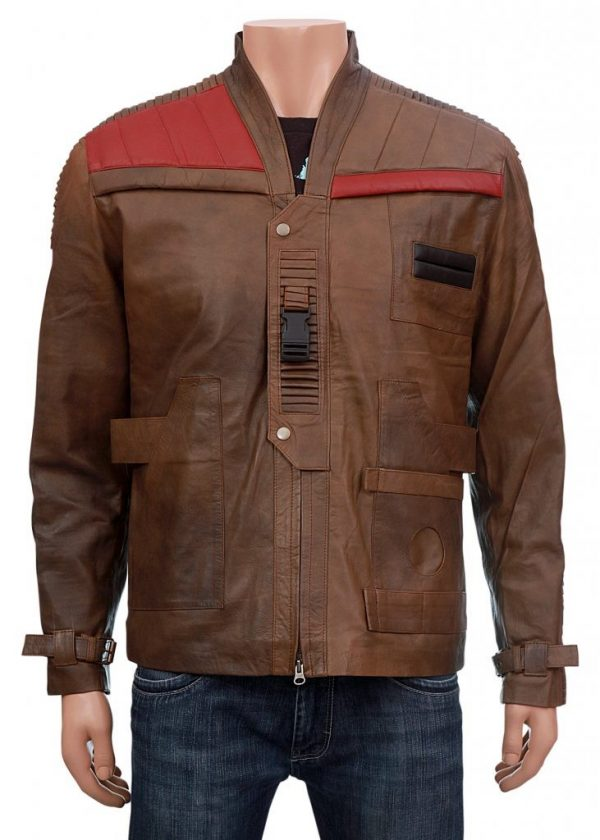 Finn Star Wars Distressed Brown Leather Jacket