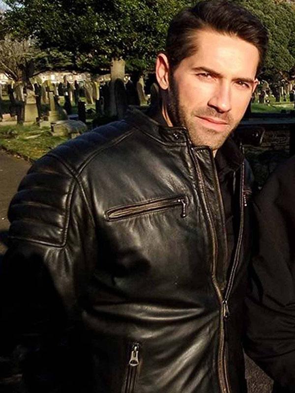 Accident Man Scott Adkins Black Leather Jacket