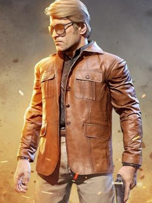 Russell Adler Call of Duty Black Ops Brown Leather Jacket