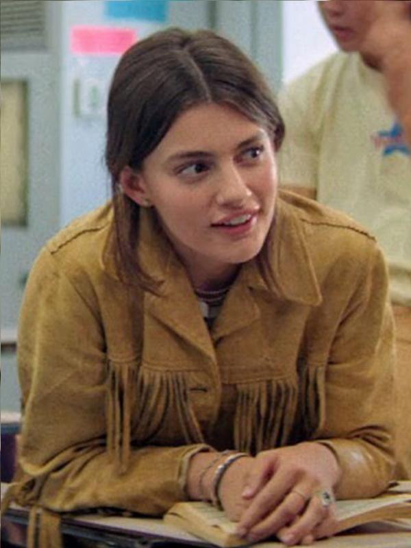Booksmart Hope Brown Fringe Leather Jacket
