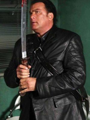 Steven Seagal Against the Dark Tao Black Coat