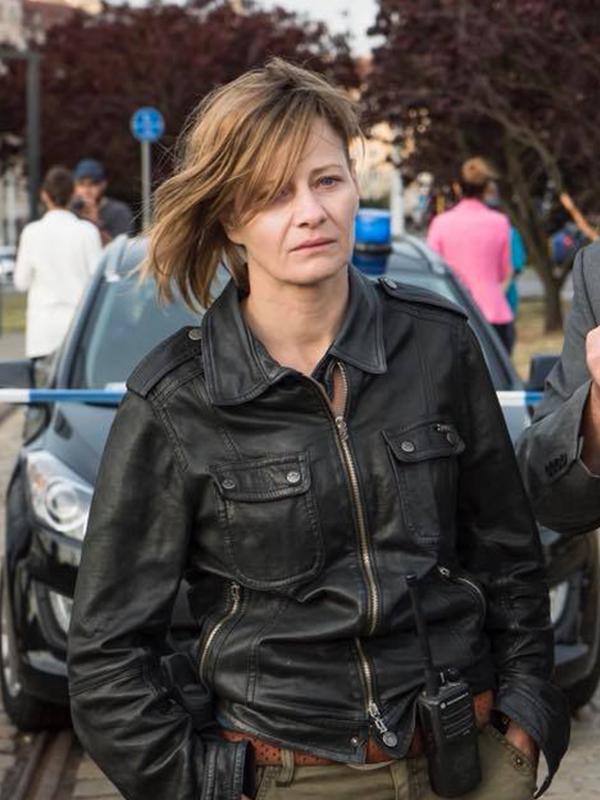 The Plagues of Breslau Małgorzata Kożuchowska Black Leather Jacket