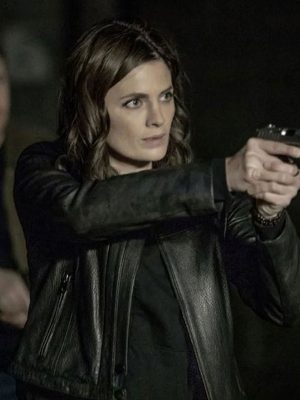 Absentia Stana Katic Black Leather Jacket