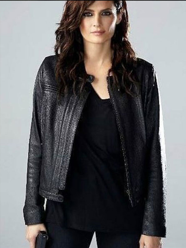 Absentia Emily Byrne Black Leather Jacket