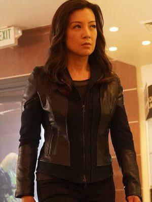 Agents of Shield Melinda May Black Leather Jacket