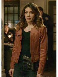 Juliana Harkavy Arrow Brown Leather Jacket