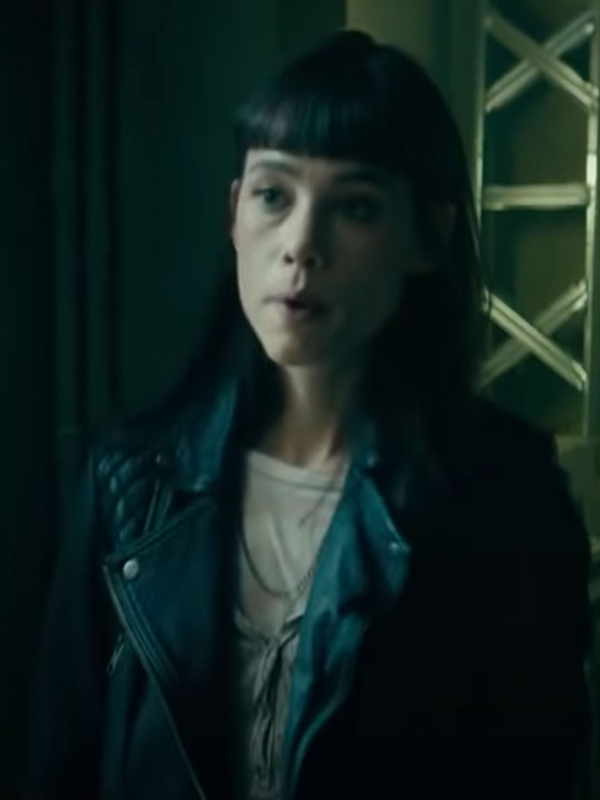 Astrid Bergès-Frisbey The Vault Biker Jacket