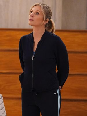 Jessalyn Gilsig Big Shot Holly Black Bomber Jacket