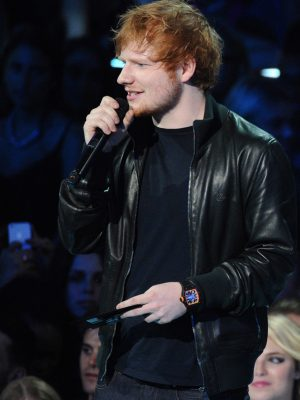 Black Ed Sheeran Bomber Jacket