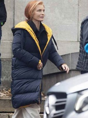 French Exit Michelle Pfeiffer Black Puffer Coat
