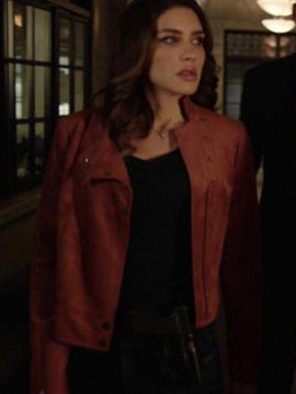 Arrow Dinah Drake Brown Leather Jacket