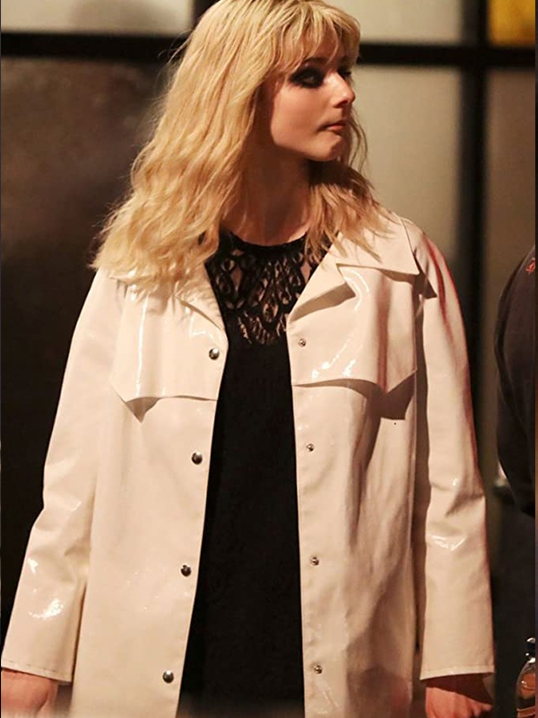 Eloise Last Night in Soho White Leather Coat