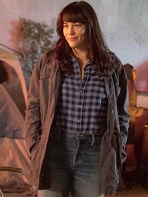 Liv Tyler 911 Lone Star Cotton Coat