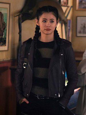 Nancy Drew George Fan Biker Leather Jacket