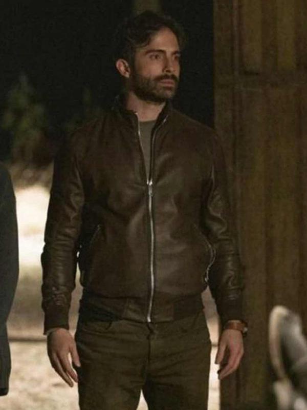 Andrés Carranza Monarca Brown Leather Jacket