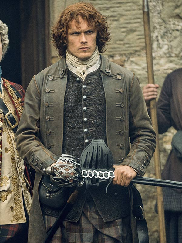 Outlander Jamie Fraser Leather Coat