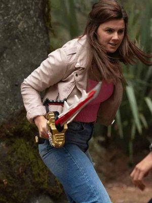 Power Rangers Dino Fury Amelia Jones Biker Jacket
