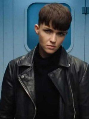 Grace Lewis SAS: Red Notice Black Biker Jacket