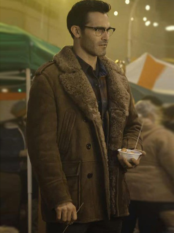 Superman and Lois Tyler Hoechlin Shearling Leather Coat