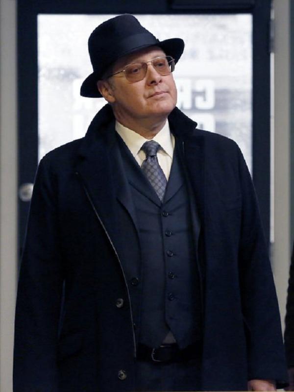 James The Blacklist Raymond Black Wool Coat