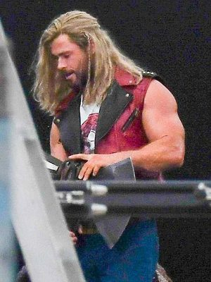 Thor Love and Thunder Thor Red Leather Vest