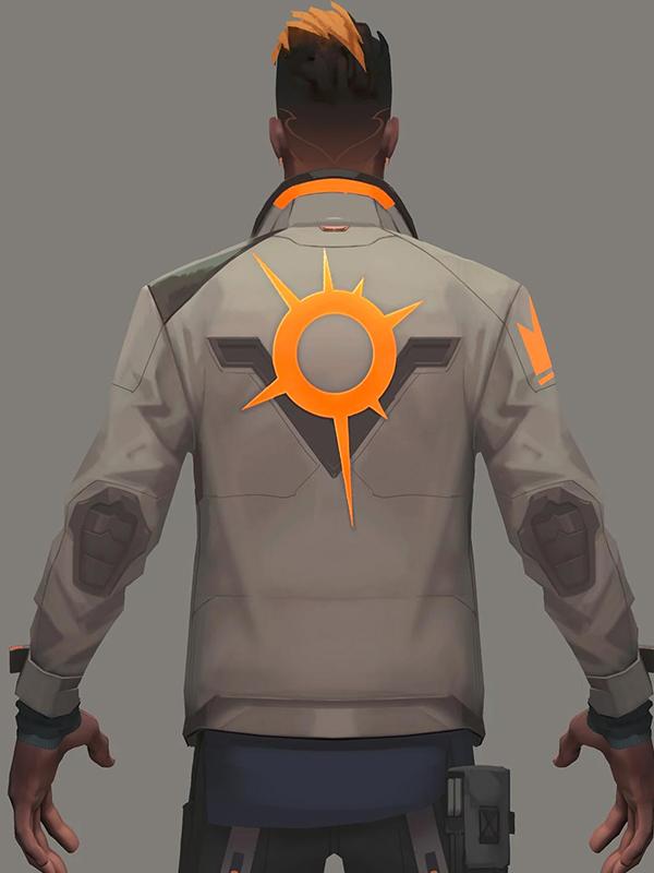 Valorant Phoenix Fiery Leather Jacket