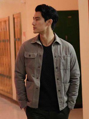 Bret Walker Gray Cotton Jacket