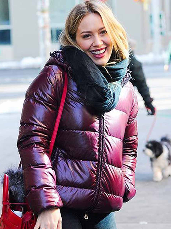 Younger Hilary Duff Puffer Hooded Jacket