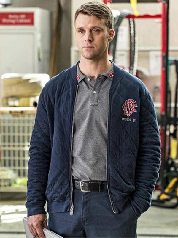 Jesse Spencer Blue Bomber Jacket