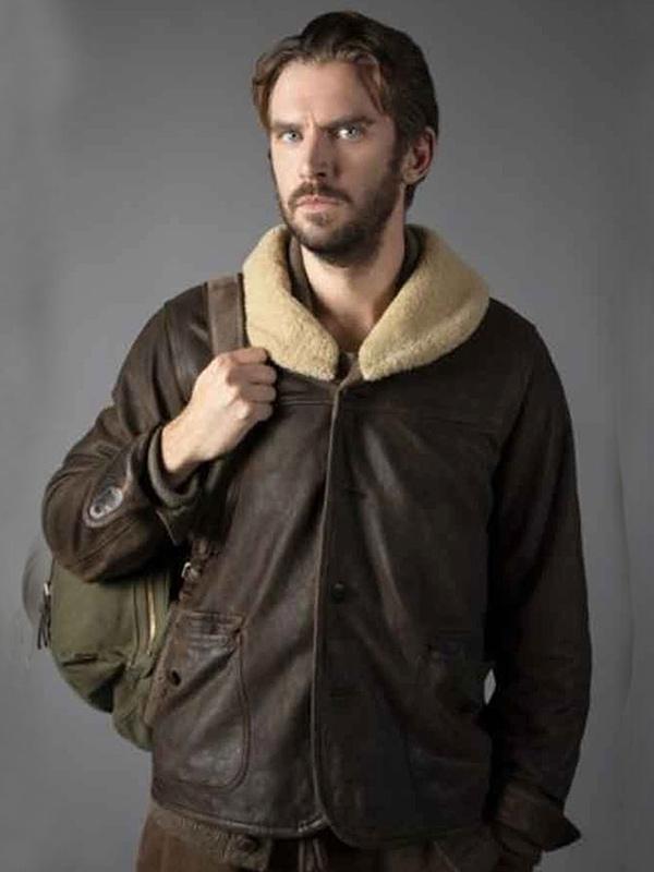 Solos Dan Stevens Brown Leather Jacket