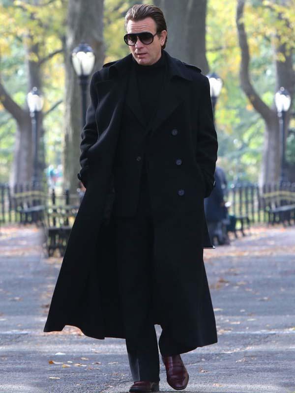 TV Series Halston 2021 Ewan McGregor Black Wool Coat