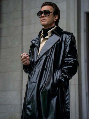 Ewan McGregor Halston Black Trench Coat