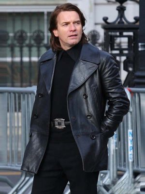 Halston 2021 Ewan McGregor Leather Jacket