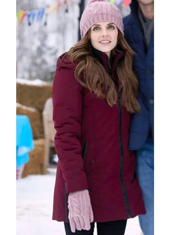 Winter Love Story Cassie Puffer Maroon Coat