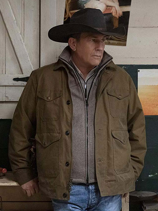John Dutton Yellowstone Kevin Costner Brown Jacket