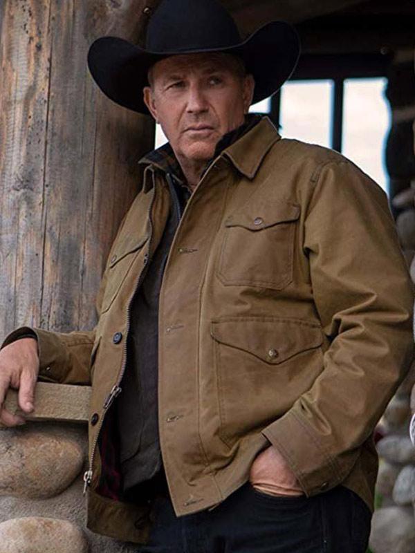 Yellowstone John Dutton Brown Cotton Jacket