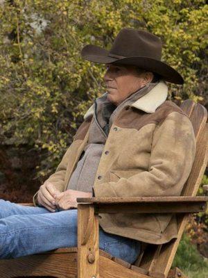 Yellowstone Season 3 John Dutton Shearling Jacket
