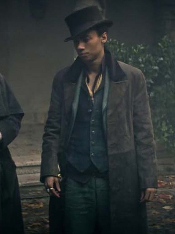Kit Young Shadow and Bone Long Brown Coat