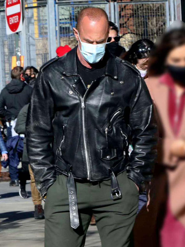Law and Order Christopher Meloni Leather Jacket