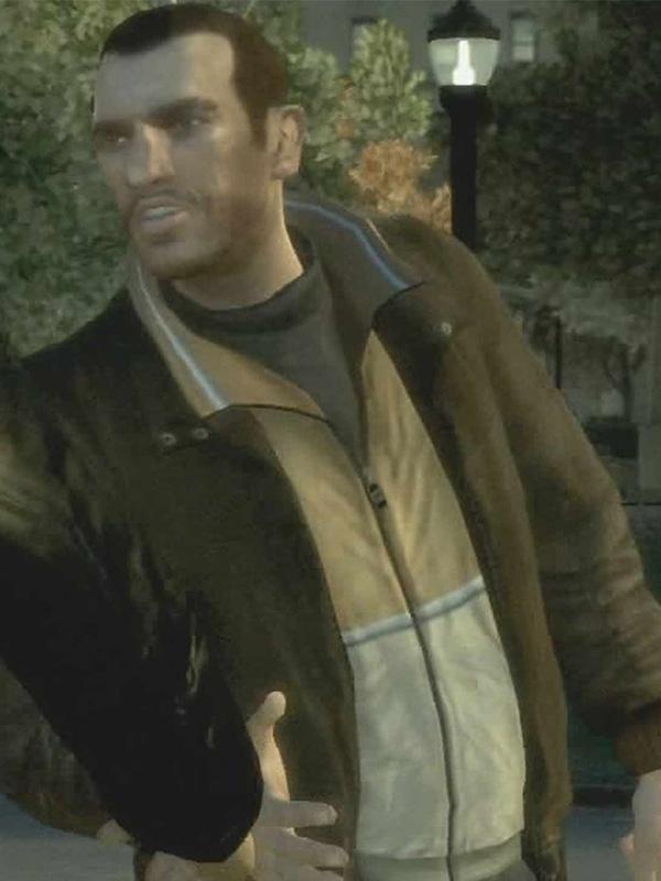 Niko Bellic GTA IV Brown Leather Jacket